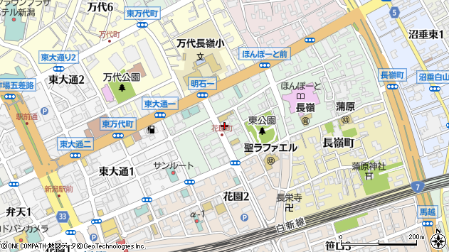 〒950-0084 新潟県新潟市中央区明石の地図