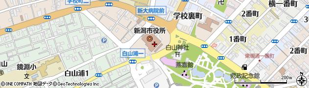 新潟市周辺の地図