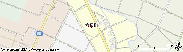 新潟県新発田市六日町周辺の地図