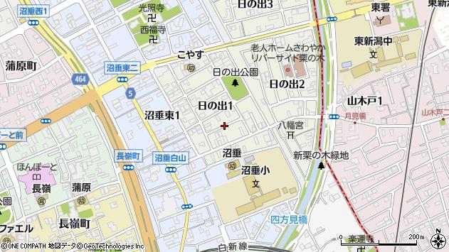 〒950-0073 新潟県新潟市中央区日の出の地図