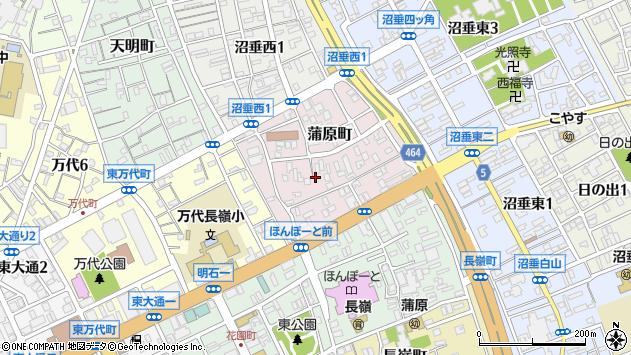 〒950-0083 新潟県新潟市中央区蒲原町の地図