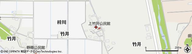 山形県米沢市竹井(上竹井)周辺の地図