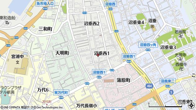 〒950-0076 新潟県新潟市中央区沼垂西の地図