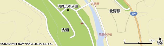福島県福島市飯坂町茂庭(広瀬浦)周辺の地図