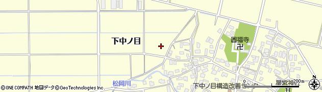 新潟県新発田市下中ノ目周辺の地図