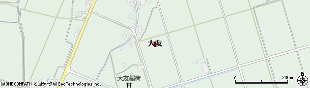 新潟県新発田市大友周辺の地図
