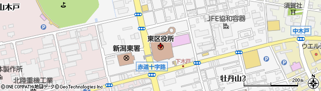 新潟県新潟市東区周辺の地図