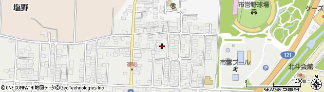 山形県米沢市徳町周辺の地図