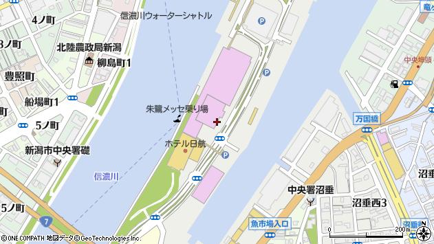 〒950-0078 新潟県新潟市中央区万代島の地図