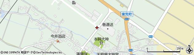 新潟県新発田市荒町周辺の地図