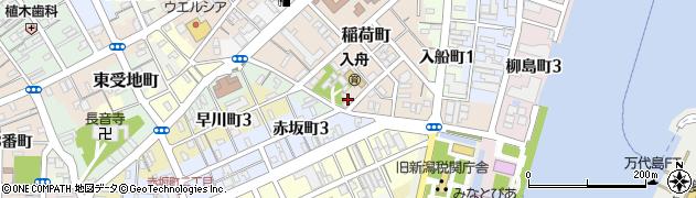 道楽稲荷神社周辺の地図
