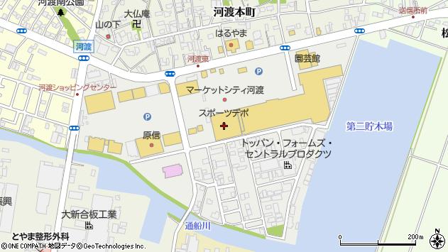 〒950-0015 新潟県新潟市東区河渡庚の地図