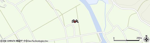 新潟県新発田市虎丸周辺の地図