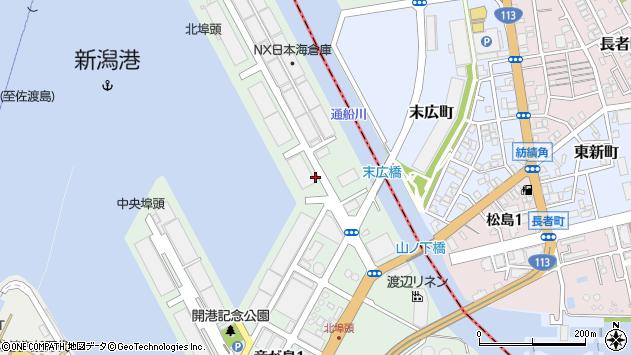 〒950-0072 新潟県新潟市中央区竜が島の地図