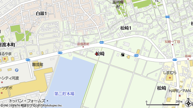 〒950-0014 新潟県新潟市東区松崎の地図