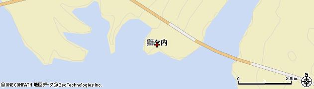 福島県福島市飯坂町茂庭(獅々内)周辺の地図
