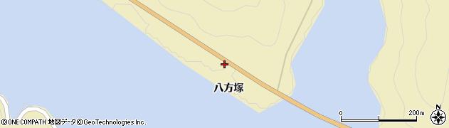 福島県福島市飯坂町茂庭(八方塚)周辺の地図