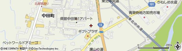 山形県米沢市中田町(舘ノ内)周辺の地図