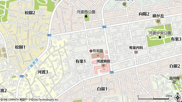 〒950-0012 新潟県新潟市東区有楽の地図
