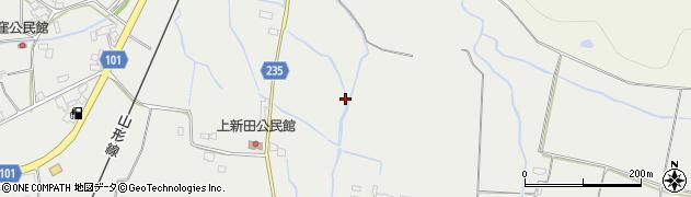山形県米沢市上新田周辺の地図