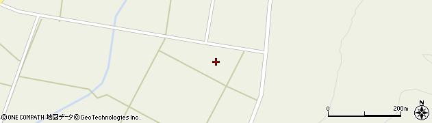 山形県東置賜郡川西町玉庭谷地田周辺の地図