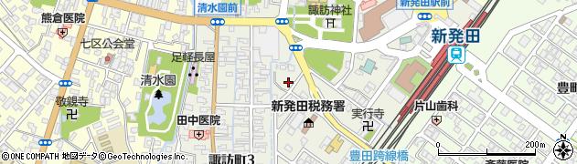 新潟県新発田市諏訪町周辺の地図