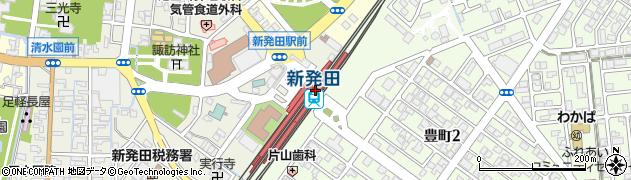 新潟県新発田市周辺の地図