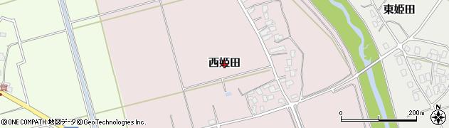 新潟県新発田市西姫田周辺の地図