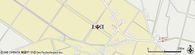 新潟県新発田市上中江周辺の地図