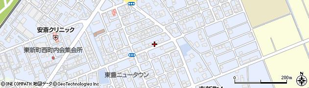 新潟県新発田市東新町周辺の地図