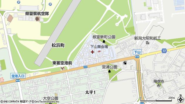 〒950-0002 新潟県新潟市東区根室新町の地図