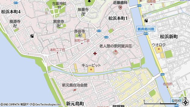 〒950-3124 新潟県新潟市北区三軒屋町の地図