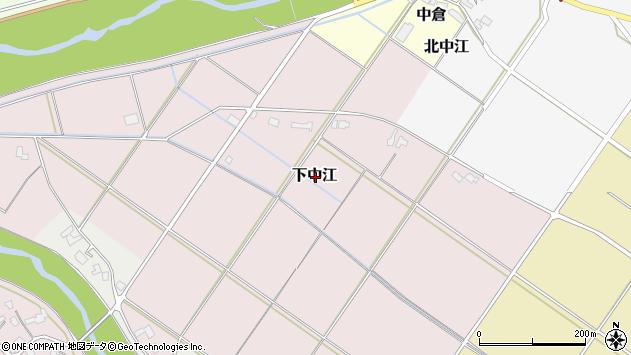 〒959-2524 新潟県新発田市下中江の地図