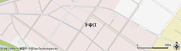 新潟県新発田市下中江周辺の地図