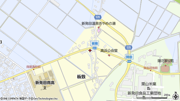 〒957-0013 新潟県新発田市板敷の地図