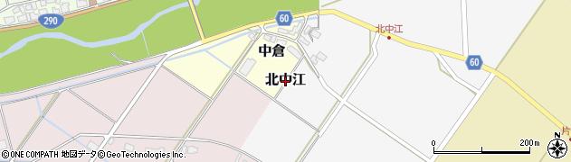 新潟県新発田市北中江周辺の地図