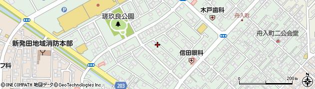 新潟県新発田市舟入町周辺の地図