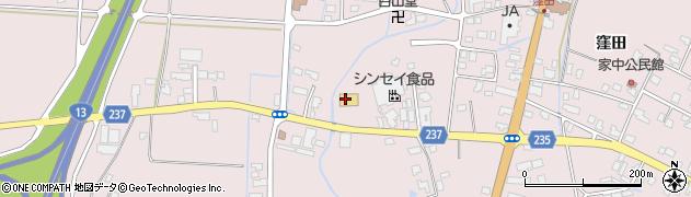 山形県米沢市窪田町(窪田字鶴巻)周辺の地図