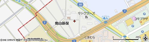 新潟県新発田市奥山新保周辺の地図