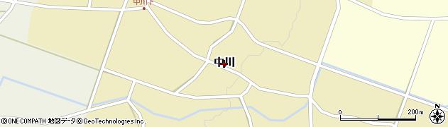 新潟県新発田市中川周辺の地図