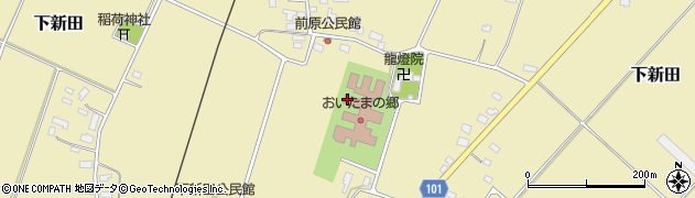 山形県米沢市下新田周辺の地図