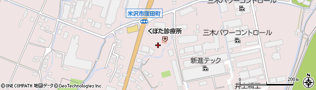 山形県米沢市窪田町(窪田字東小境)周辺の地図