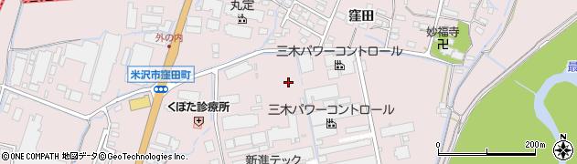 山形県米沢市窪田町(窪田字八幡堂前)周辺の地図