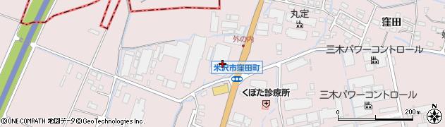 山形県米沢市窪田町(窪田字北小境)周辺の地図
