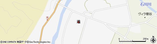新潟県新発田市滝周辺の地図