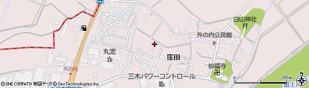 山形県米沢市窪田町(窪田字八幡堂)周辺の地図