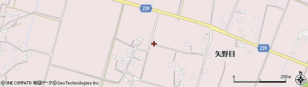 山形県米沢市窪田町(矢野目)周辺の地図