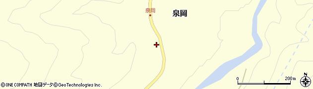 山形県西置賜郡小国町泉岡周辺の地図