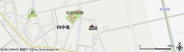 新潟県新発田市高田周辺の地図