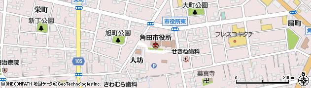 宮城県角田市周辺の地図
